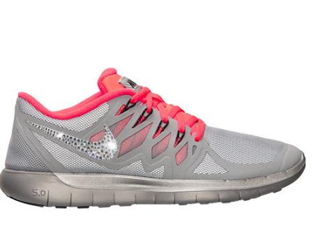 d35ee3e916ada Over Half Off 2017 NIKE Free 5.0 Flash Run Shoes w Swarovski Crystal Detail  - Reflect Silver Black Hyper Punch