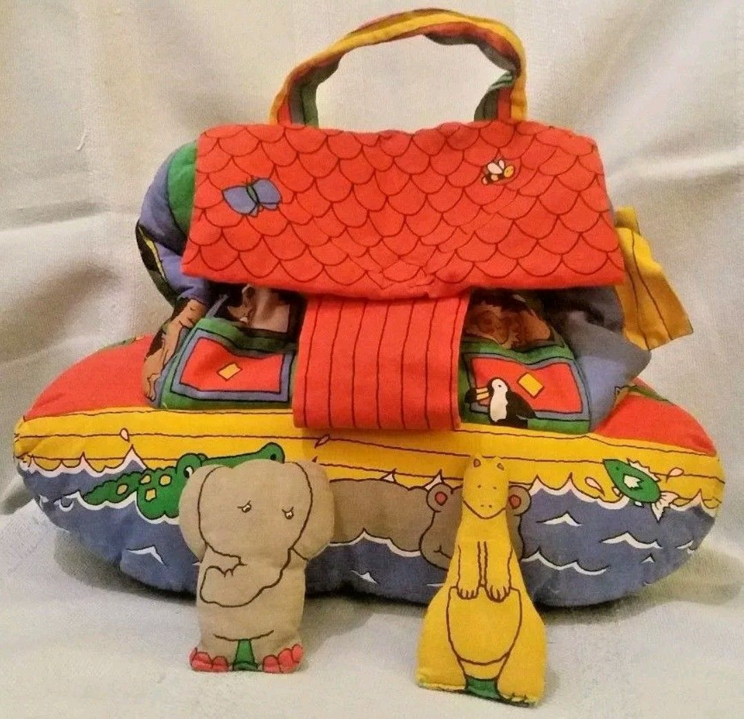 Early learning centre noah's ark soft toy with two soft ...