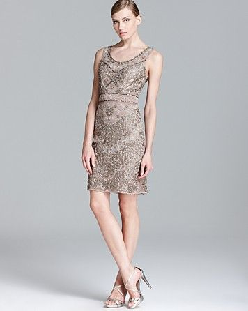2964a9200bb Sue Wong Beaded Dress - Sleeveless Scoop Neck