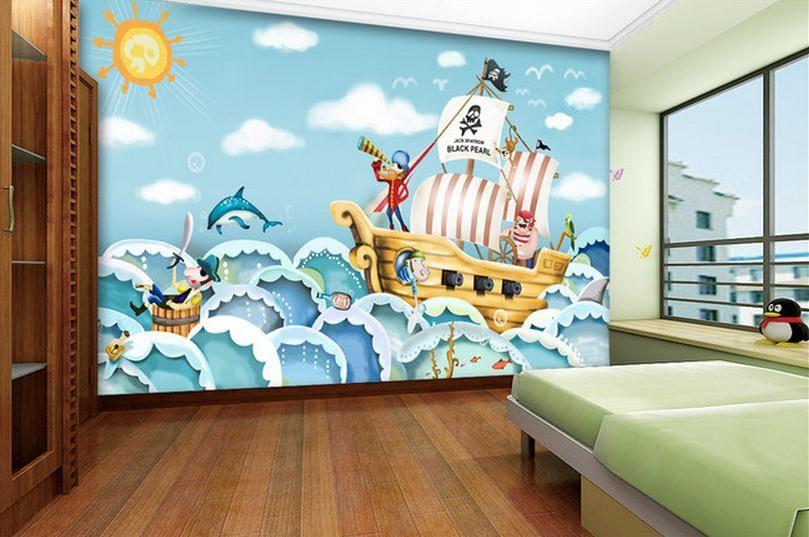 Pas Cher 3d Papier Peint De La Chambre Murale Personnalisée Non Tissé Wall  Sticker Caricature Dessinée
