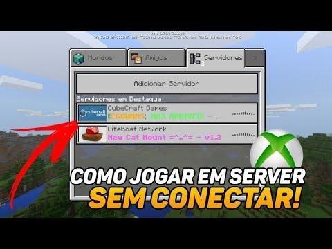 COMO JOGAR EM SERVIDOR NO MINECRAFT PE SEM PRECISAR CONECTAR - Minecraft pe server erstellen kostenlos online
