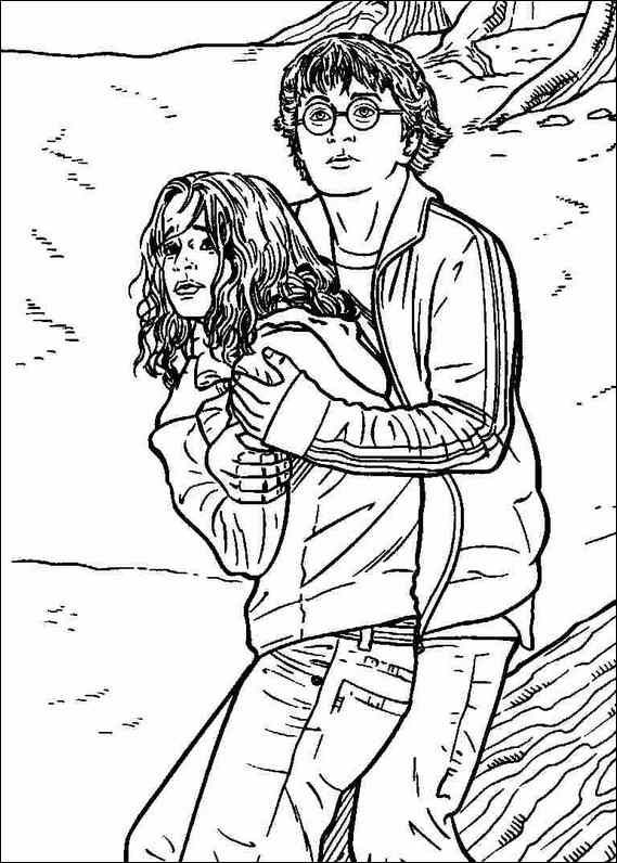 Beautiful Hermione Harry Potter Hermione Coloring Pages