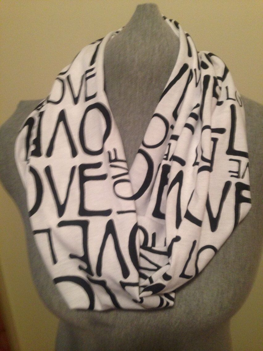Love infinity scarf  by KruseKreations22 on Etsy https://www.etsy.com/listing/178427443/love-infinity-scarf