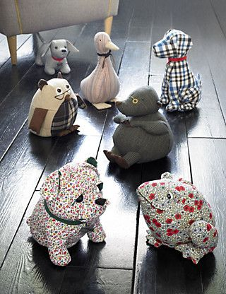 Maurice Mole Doorstop Patchwork Sewing Toys Door Stop
