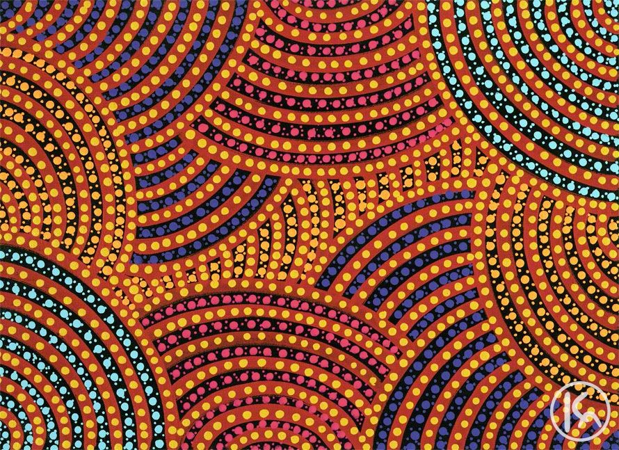Famous Aboriginal Dot Painting Famous Aboriginal Dot Painting