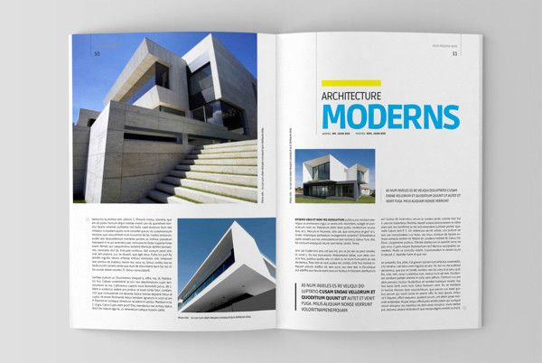 Architecture magazine template by Jumadi M Nur, via Behance - architecture brochure template