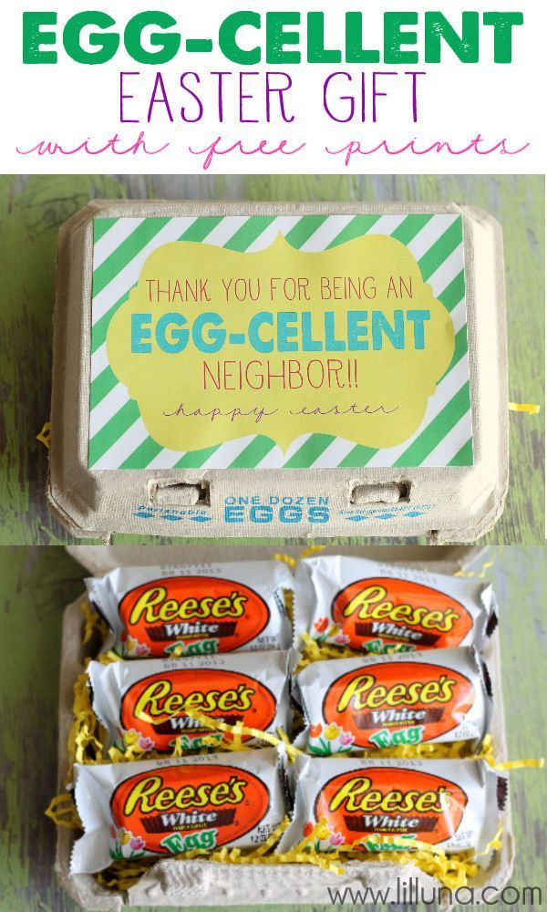 Egg cellent easter gift with free prints for teacher neighbor easter decor negle Gallery