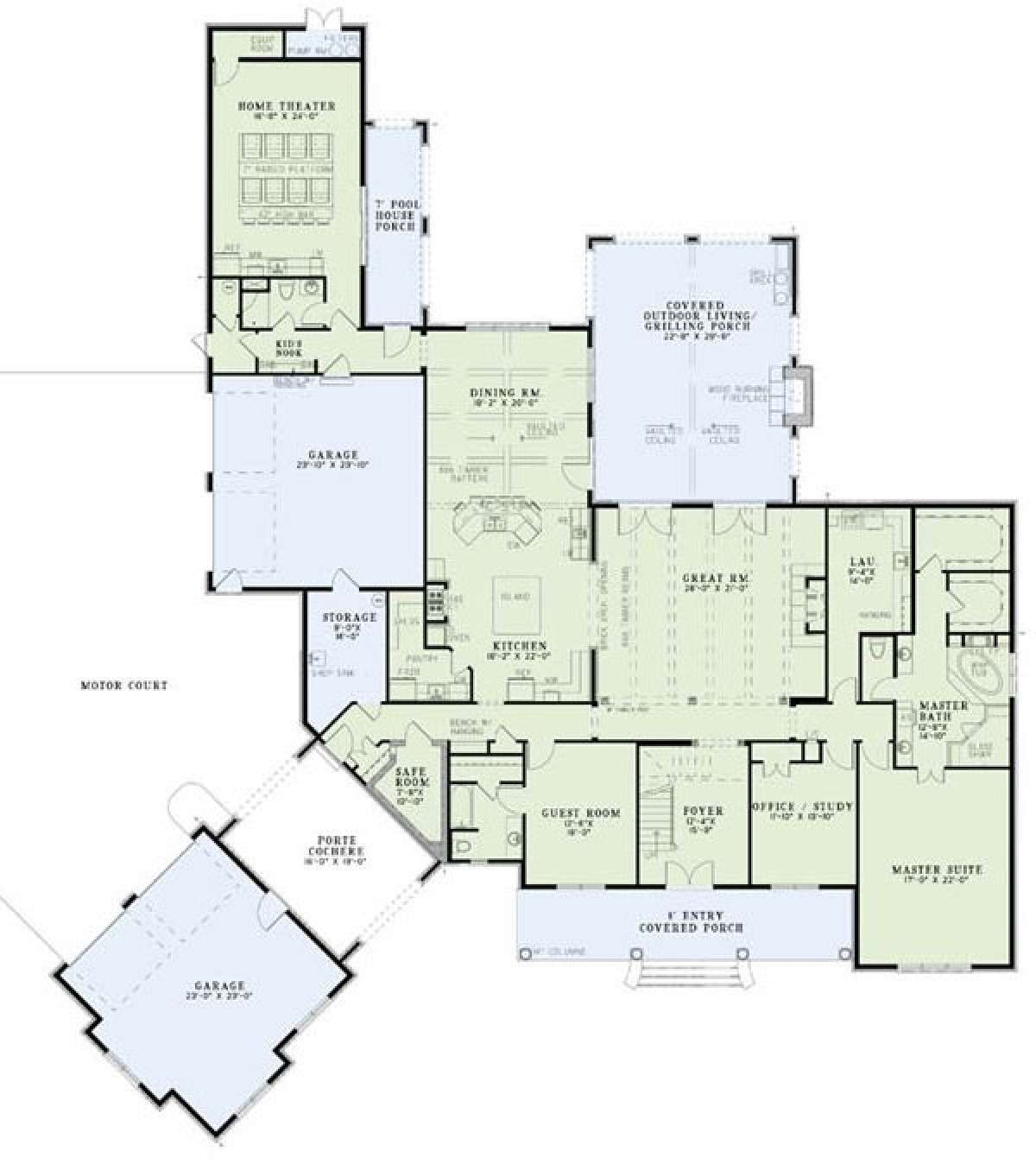 House Plan 110 00977 European Plan 6 004 Square Feet 6 Bedrooms 6 Bathrooms Luxury House Plans House Plans European Plan