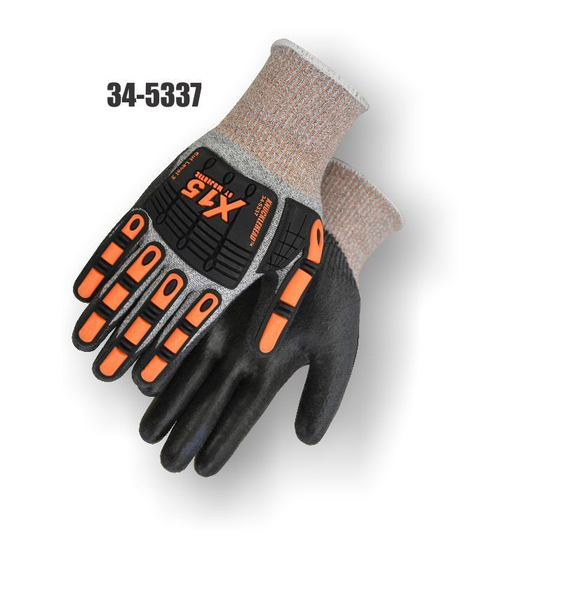 Knucklehead X10 Armor Skin Mechanics Construction Gloves-Impact Protection-ANSI