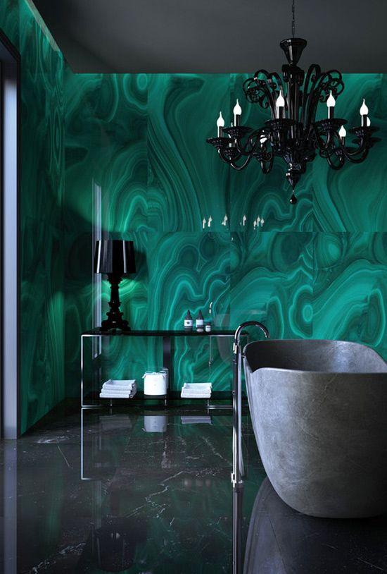 emerald green shower curtain - Google Search | Decor | Pinterest ...