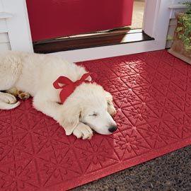 Star Quilt Doormat, Water Holding Doormat, Christmas Doormat   Solutions