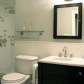 Glass Shelf Over Toilet Subway Tiles Bathroom White Subway Tile Bathroom Shelves Over Toilet