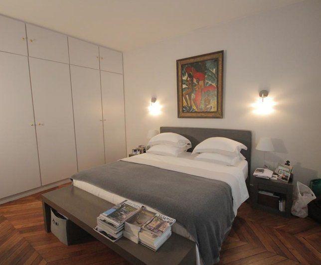 photo deco chambre blanc haussmannien appart haussmanien gris bedroom pinterest. Black Bedroom Furniture Sets. Home Design Ideas