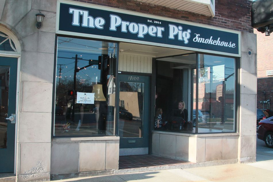Photos inside the proper pig smokehouse in lakewood