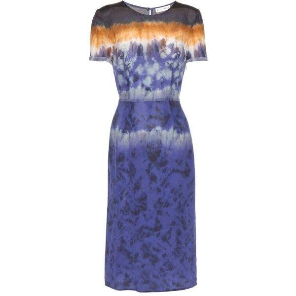 Altuzarra Glaze Printed Silk Dress (10.651.820 IDR) ❤ liked on Polyvore featuring dresses, blue, multi colored dress, multi color dress, blue silk dress, colorful dresses and multicolor dresses