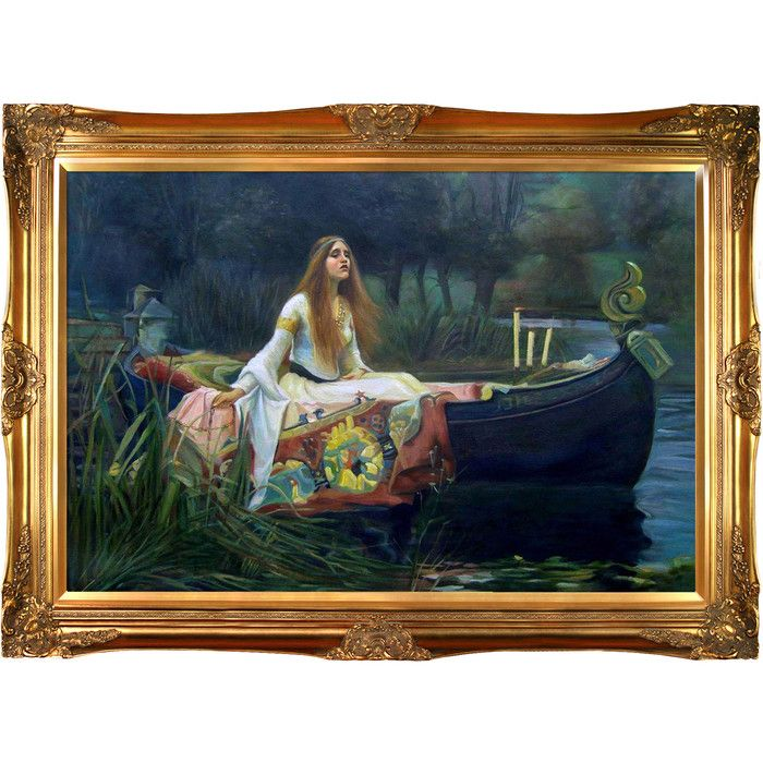 """Tori Home The Lady of Shalott by John William Waterhouse Framed Hand Painted Oil on Canvas 