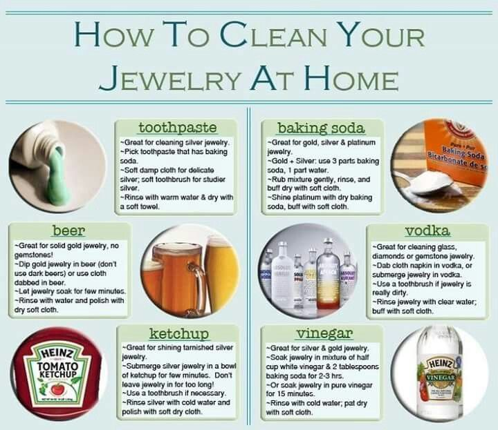 Can you use vinegar and baking soda to clean jewelry