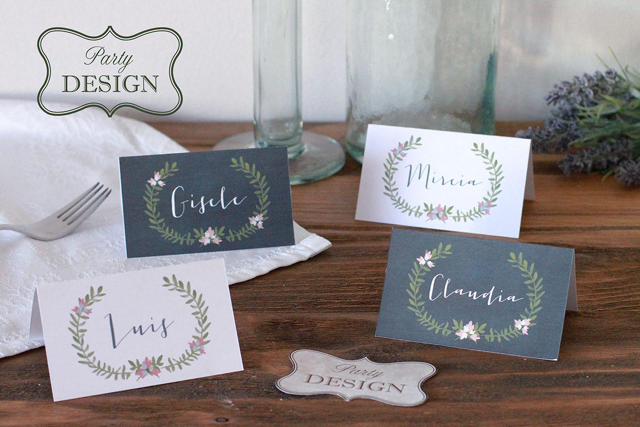 Cartelitos para nombres imprimibles gratis Card name free printable ...
