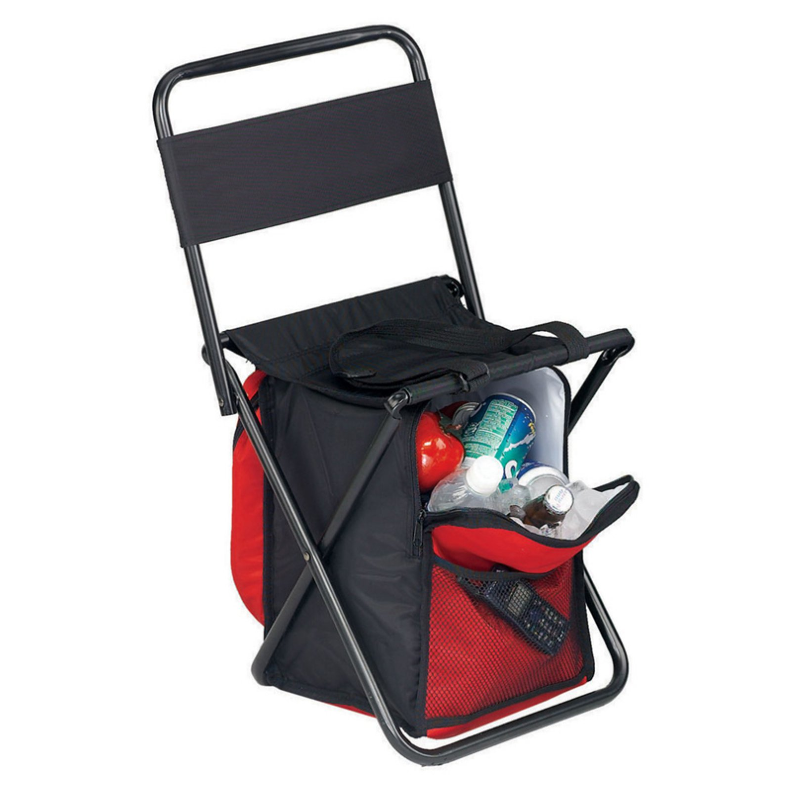 Preferred Nation Picnic Chair with Cooler Red/Black