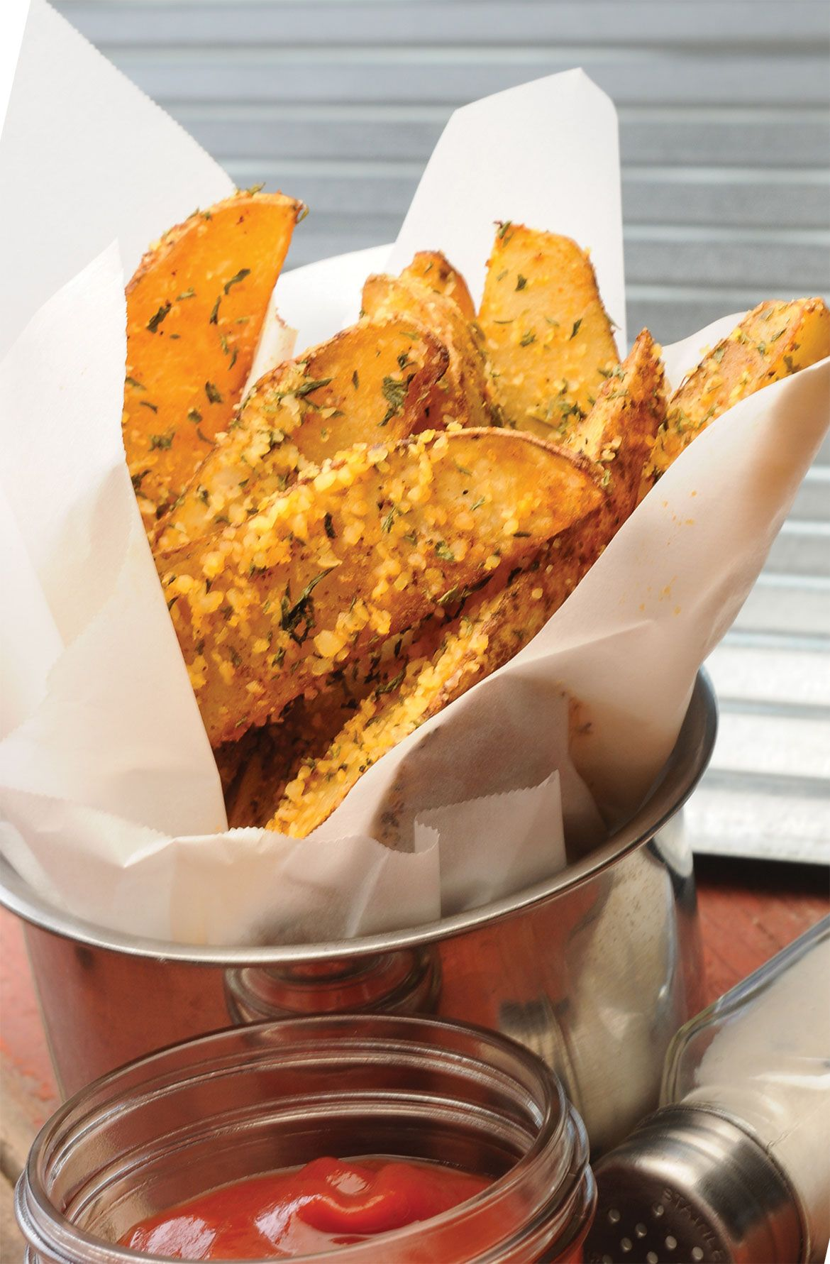 Potato Wedges or Fries:  Who can resist the temptation of a French Fry?  Here's a healthier and tastier alternative for your family to enjoy (without the guilt!).