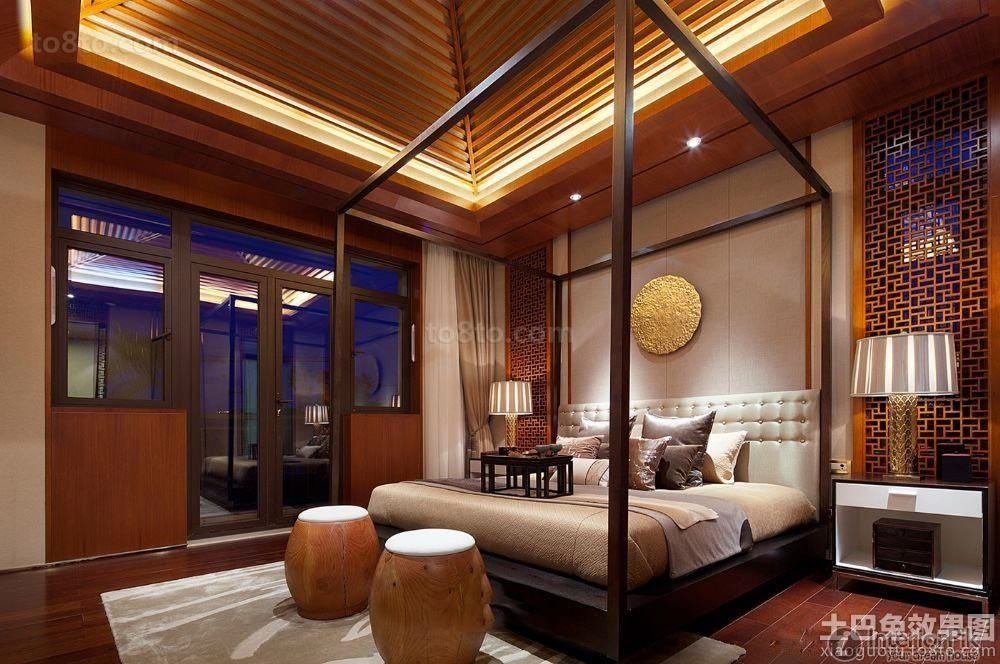 Chinesestyle decoration bedroom design renderings 2015