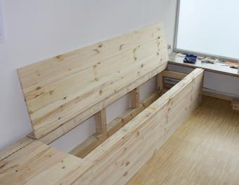 wenn man stauraum braucht stauraum kiefer sitzm bel holzbank sitztruhe etagenbett m bel. Black Bedroom Furniture Sets. Home Design Ideas