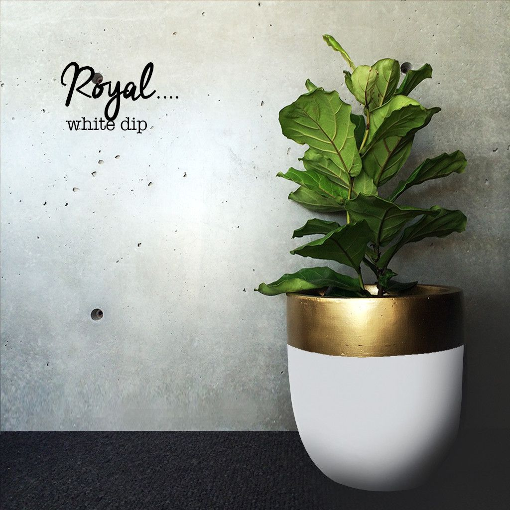 lightweight planters dipped in many colors like this white with