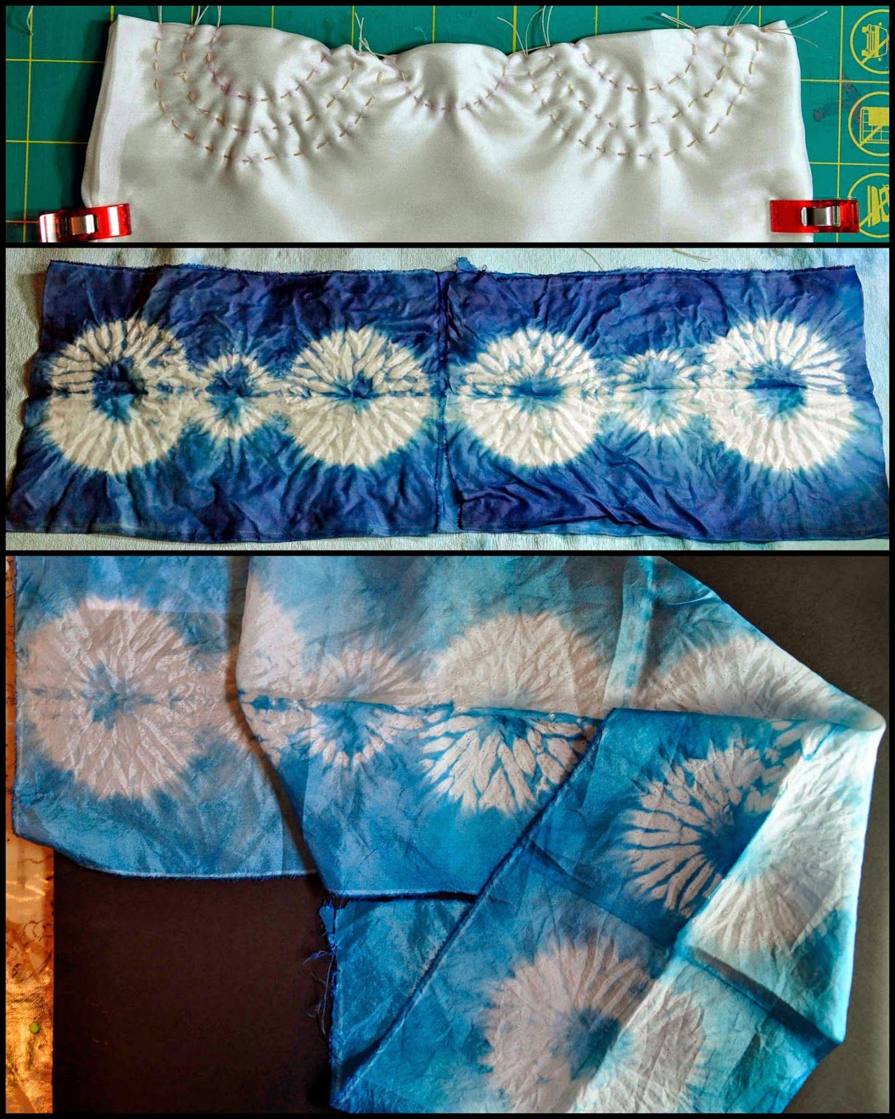 And Then We Set It On Fire: Week 2 Stitched Shibori Curved