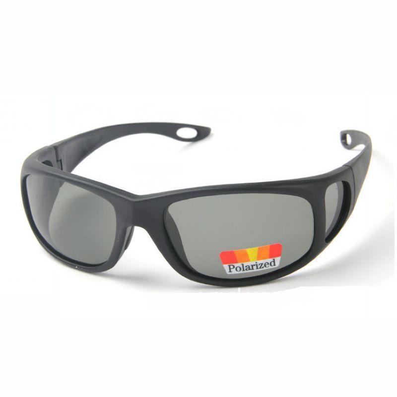 Fishing Wrap Around Polarized Sunglasses Polycarbonate Polished ...