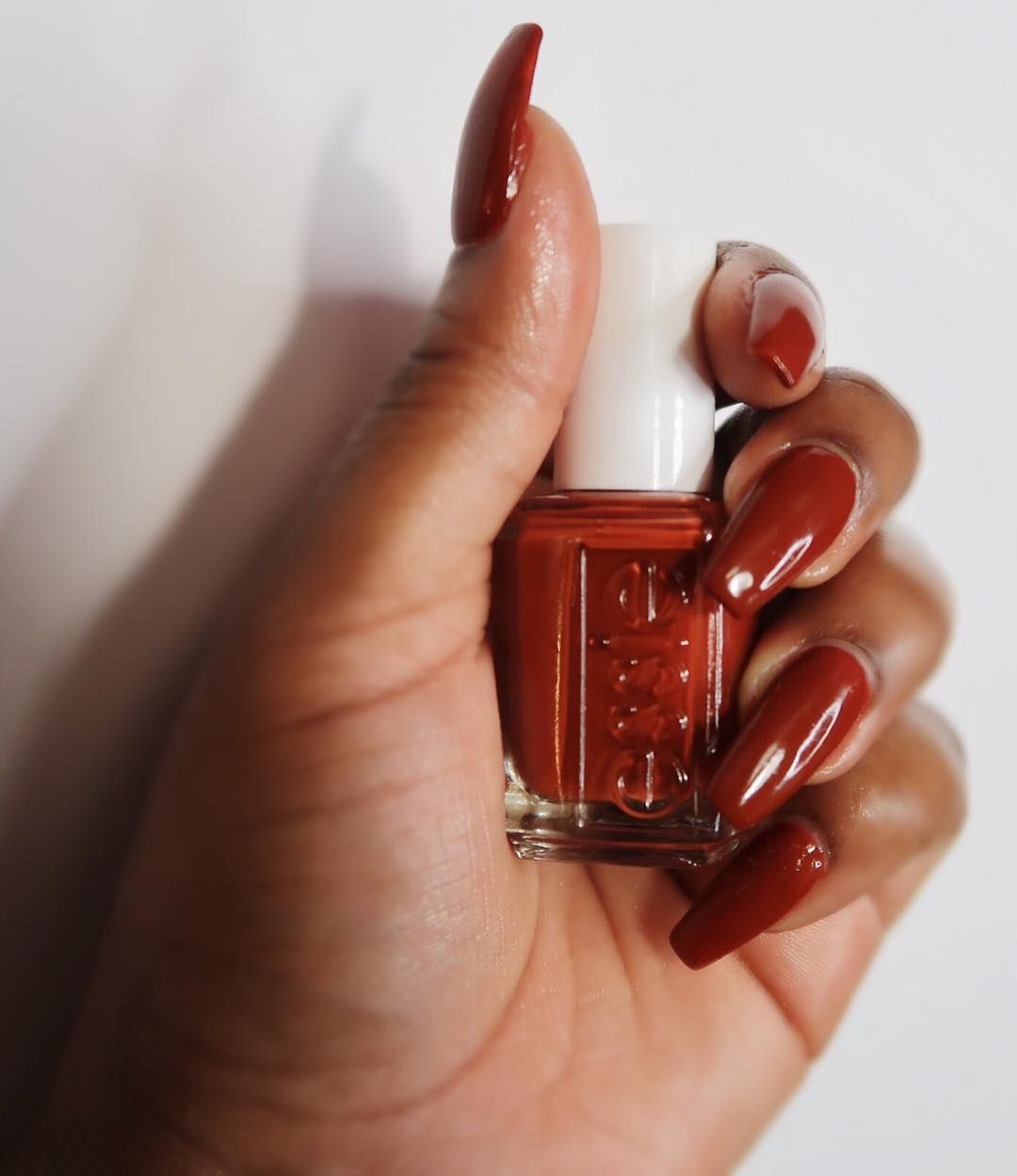 Maroon Nail Polish On Dark Skin - Creative Touch