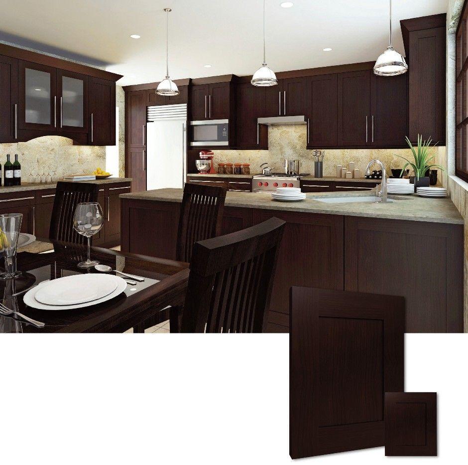 Shaker Kitchen Cabinets 940x933 Espresso Rta Pantry