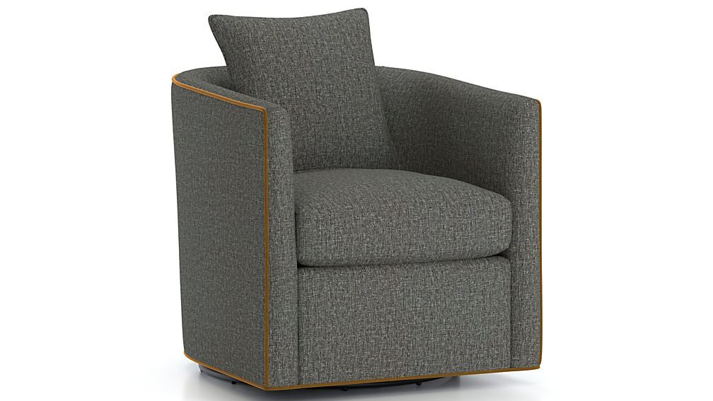 Drew small swivel chair reviews crate and barrel