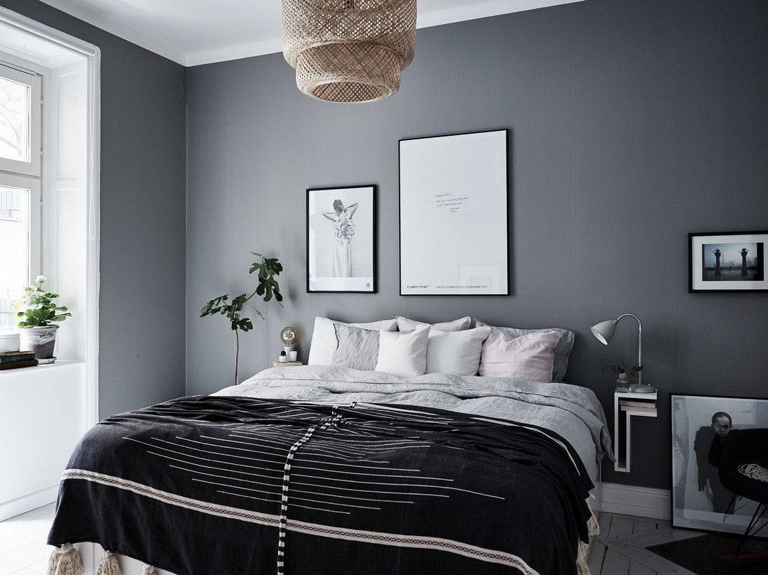 blanc gris ou noir deco chambre