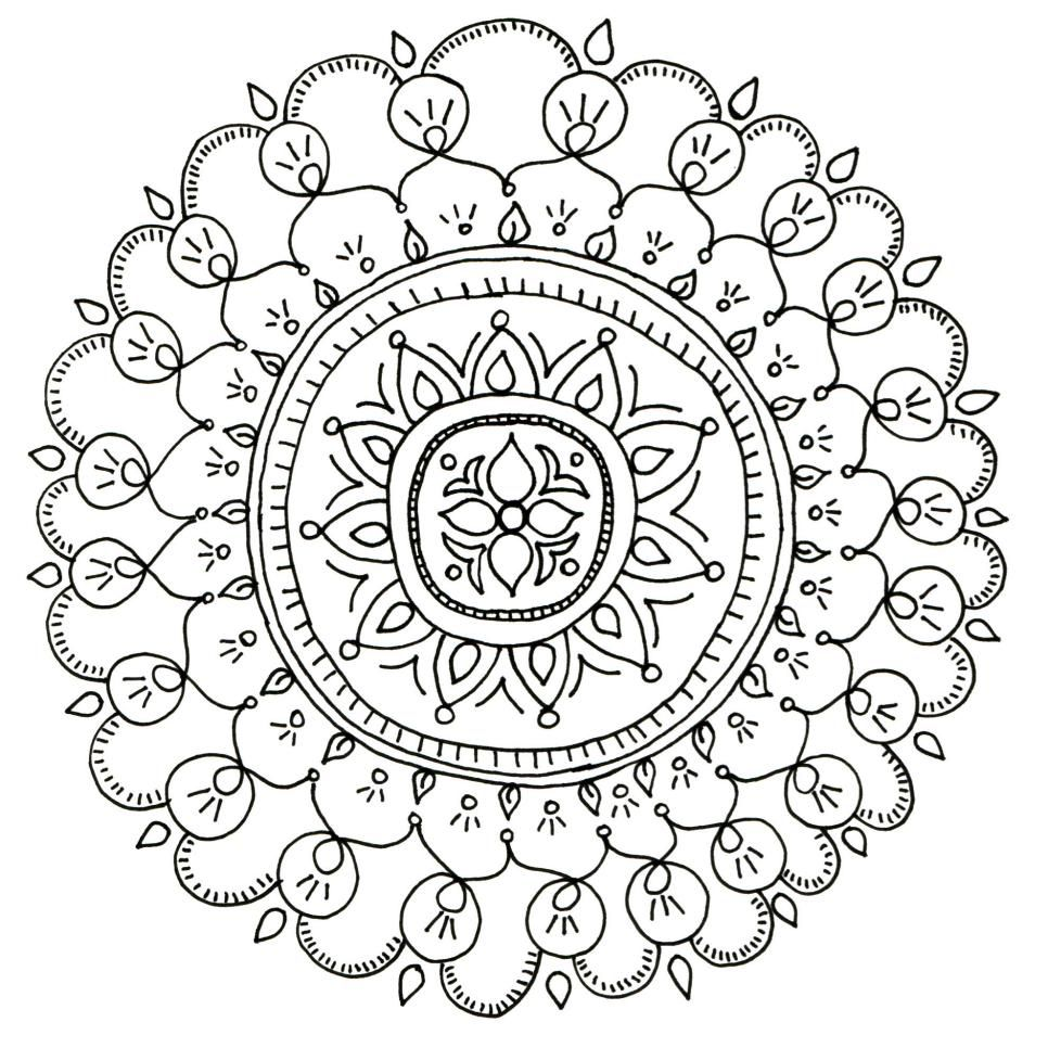 Free Printable Coloring Pages for Adults | Pinterest
