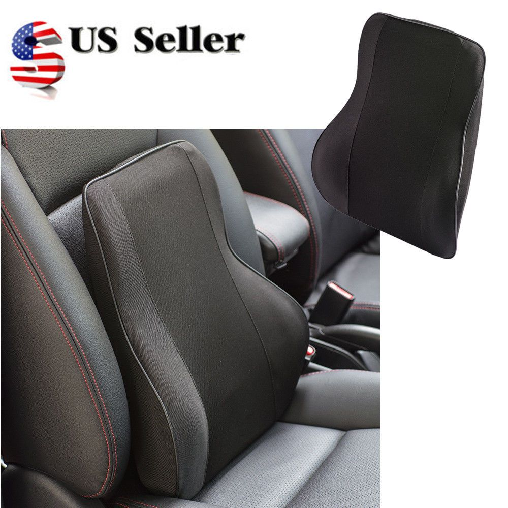 Details About Memory Foam Lumbar Back Support Cushion Relief Pillow