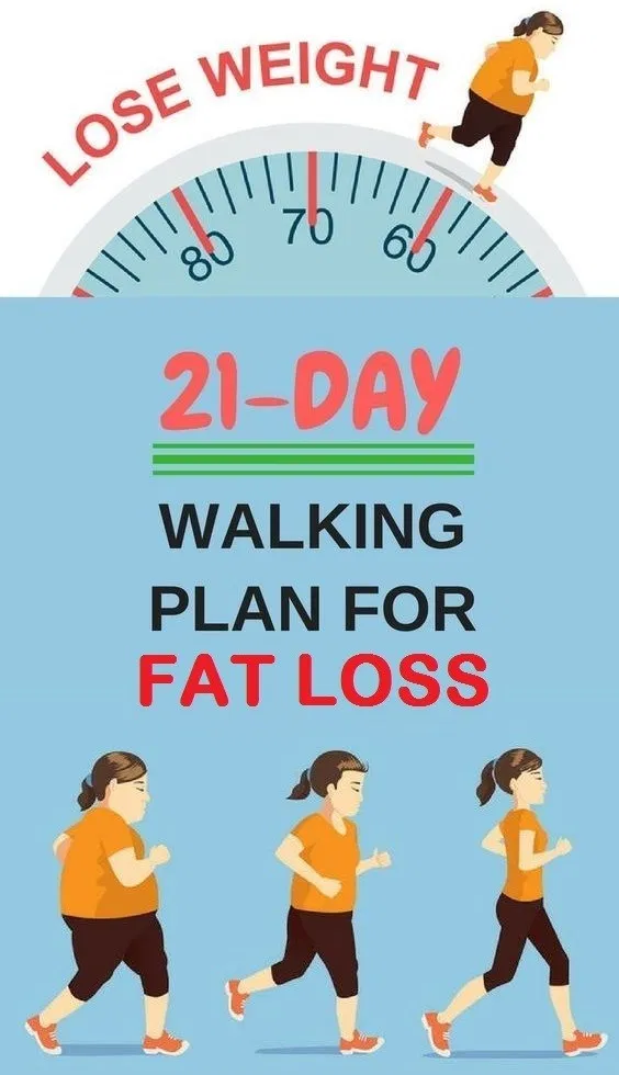 A 21Days Walking Plan For Fat Loss  Heal me