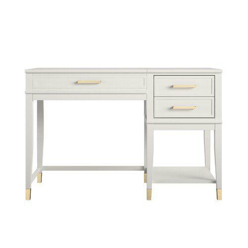 Westerleigh 1 Drawer Nightstand In 2020 White Desk With Drawers Desk For Girls Room White Desk Bedroom