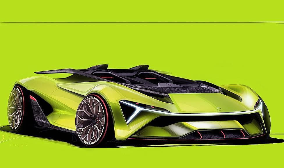 J Aqck Shot It Into The Lambochallenge With His Design Car Design Lambo Amazing Cars