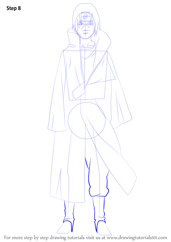 Learn How To Draw Itachi Uchiha From Naruto Naruto Step By Step Drawing Tutorials In 2021 Itachi Uchiha Itachi Uchiha