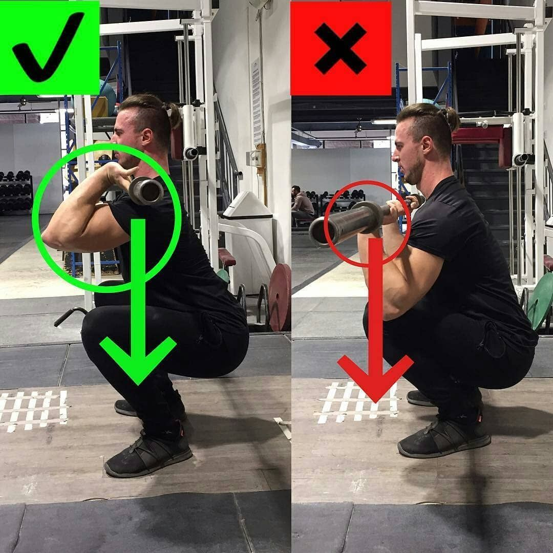 How To Front Squat (Barbell) SquatExercises Squat