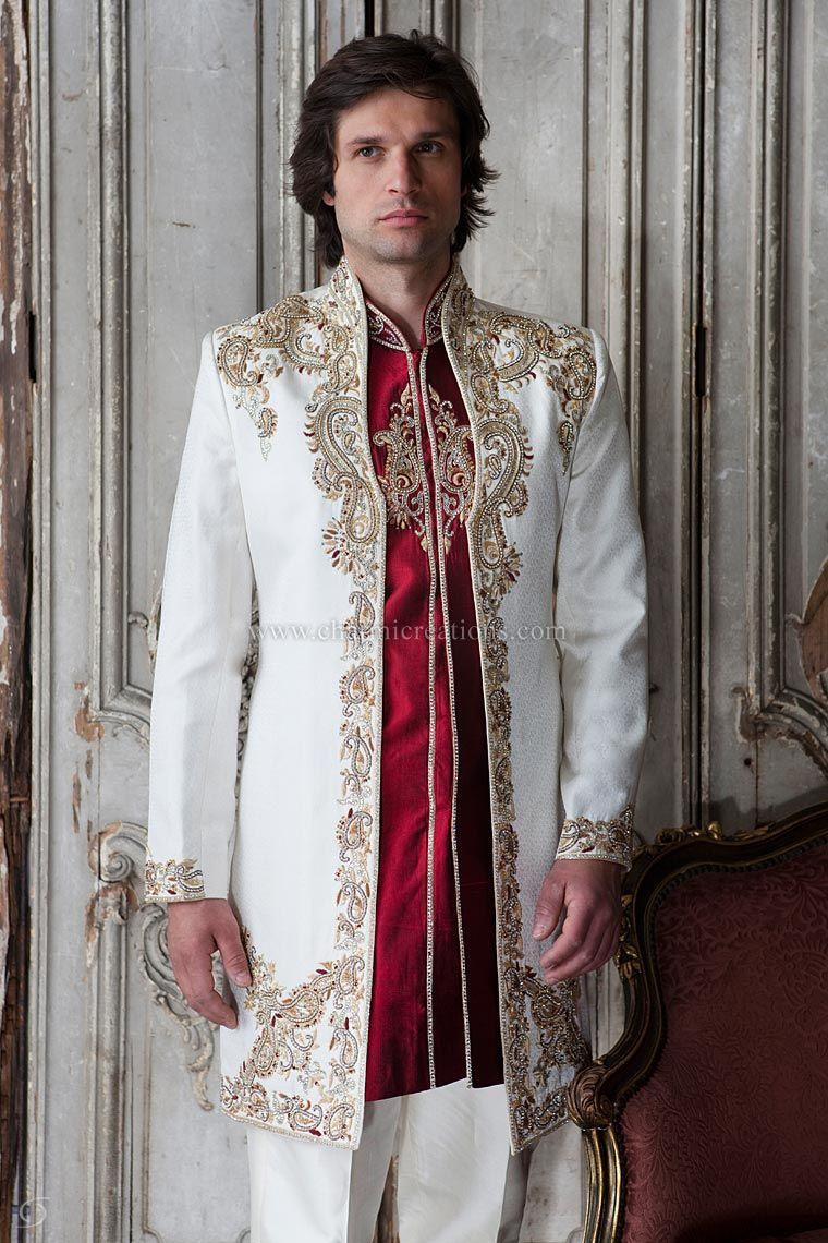 Wedding Sherwani Mens Suits Wedding Dresses for Men Kurtas & Jodpuri ...