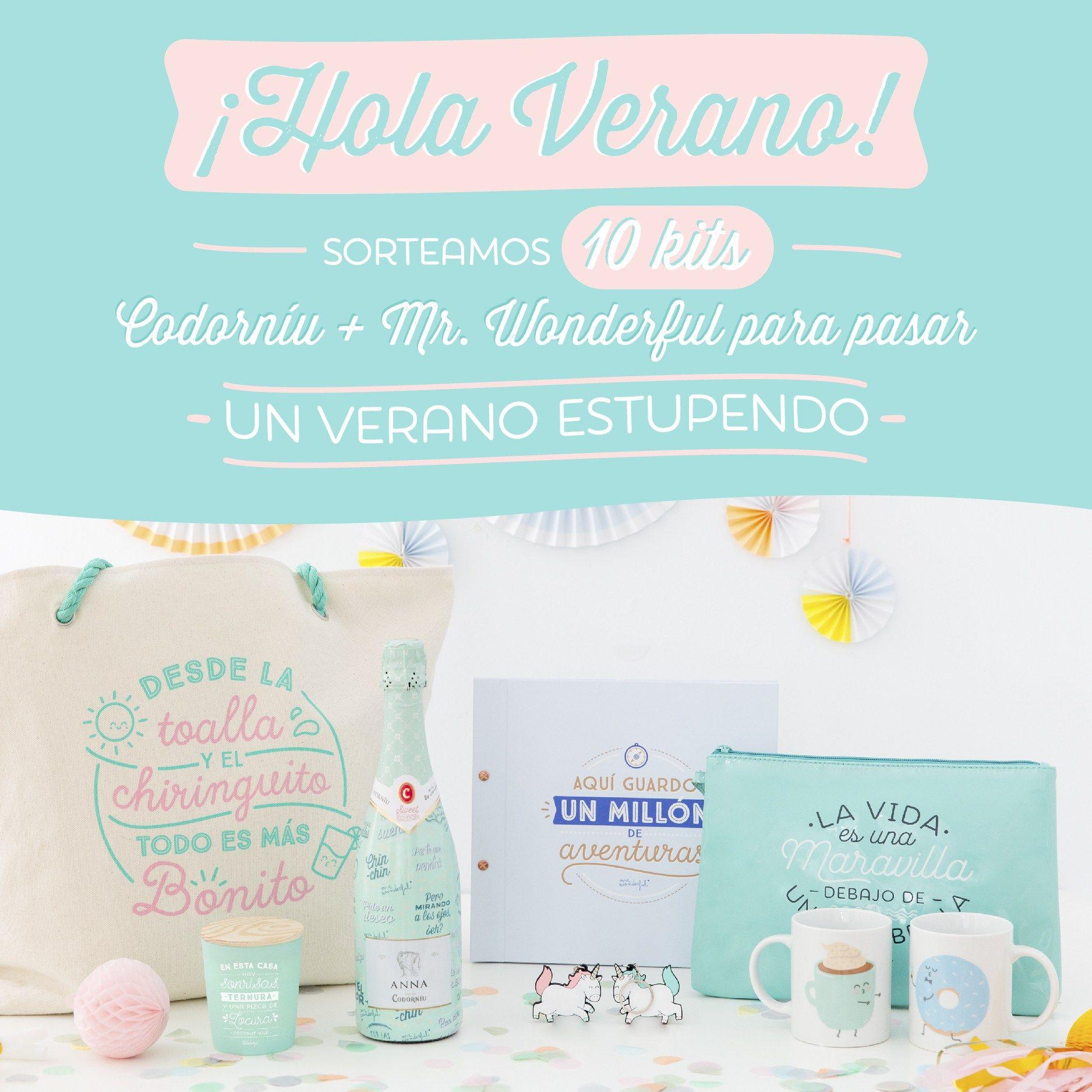 Dale la bienvenida al verano con el sorteo de 10 lotes de Anna de Codorníu  Sweet Edition by Mr Wonderful y nuestros productos | Hola verano, Verano,  Sorteo