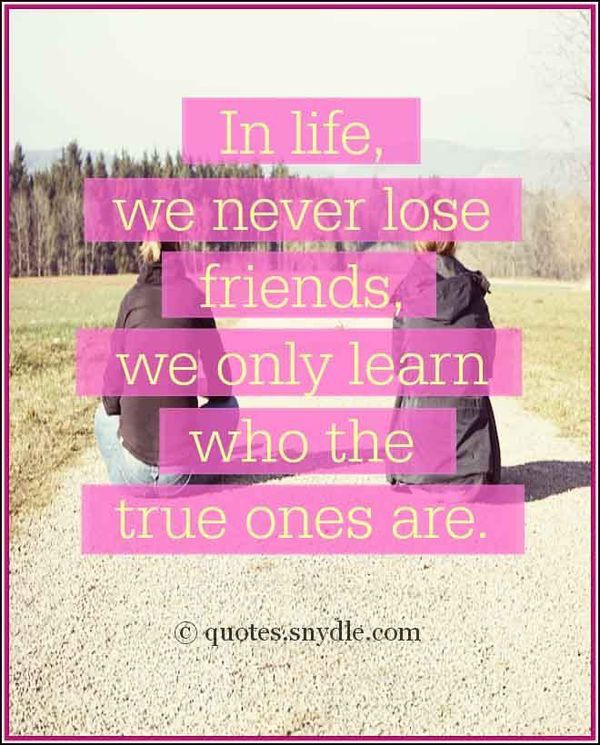 What friendship teaches us Who are your true friends ? | Quotes ...