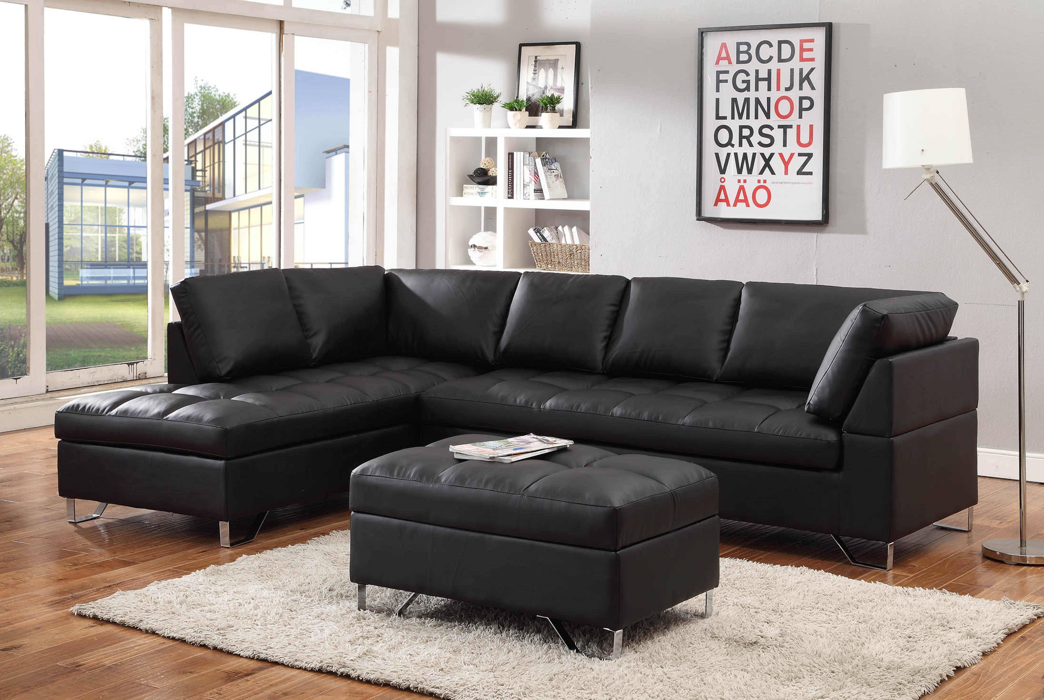 Modern Black Sectional Living Room Pinterest