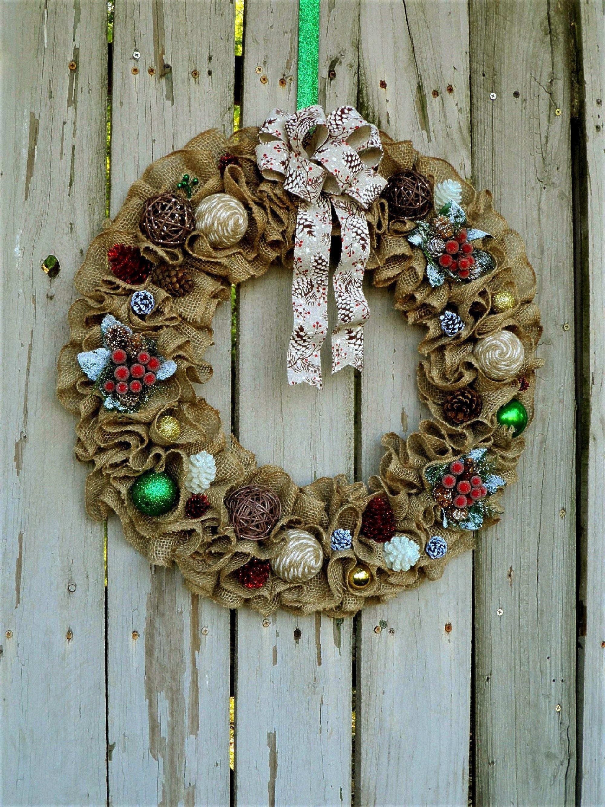 Farmhouse christmas wreath large christmas wreath rustic
