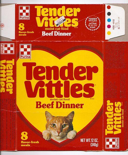 1986 Ralston Purina Tender Vittles Cat Food Box Miniature