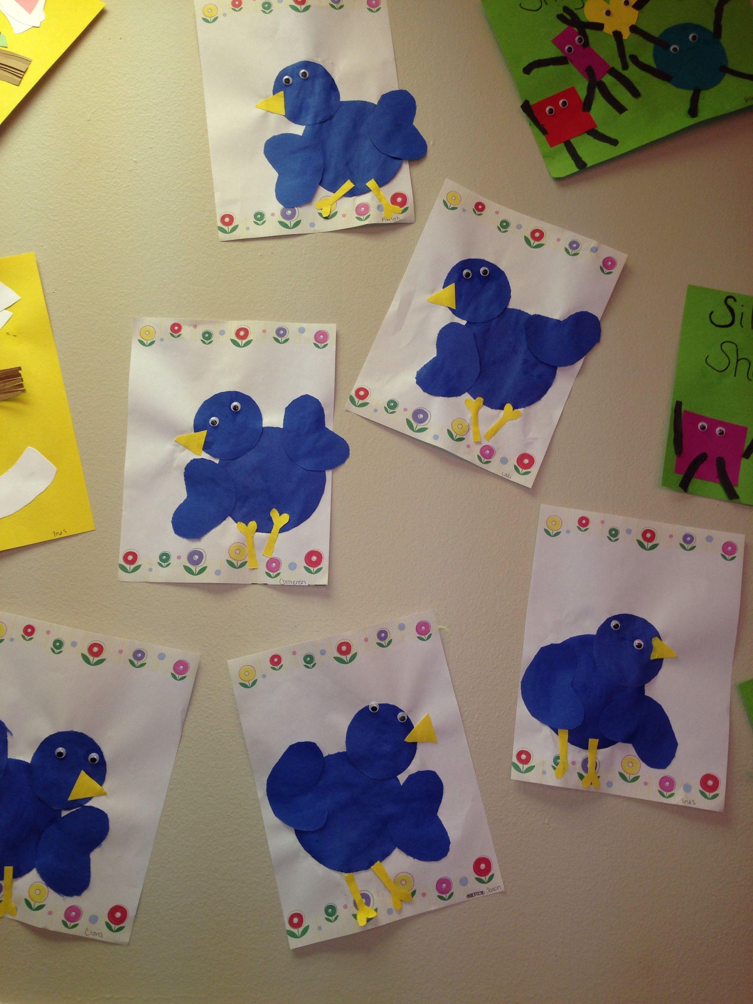 Color Blue Craft Blue Bird