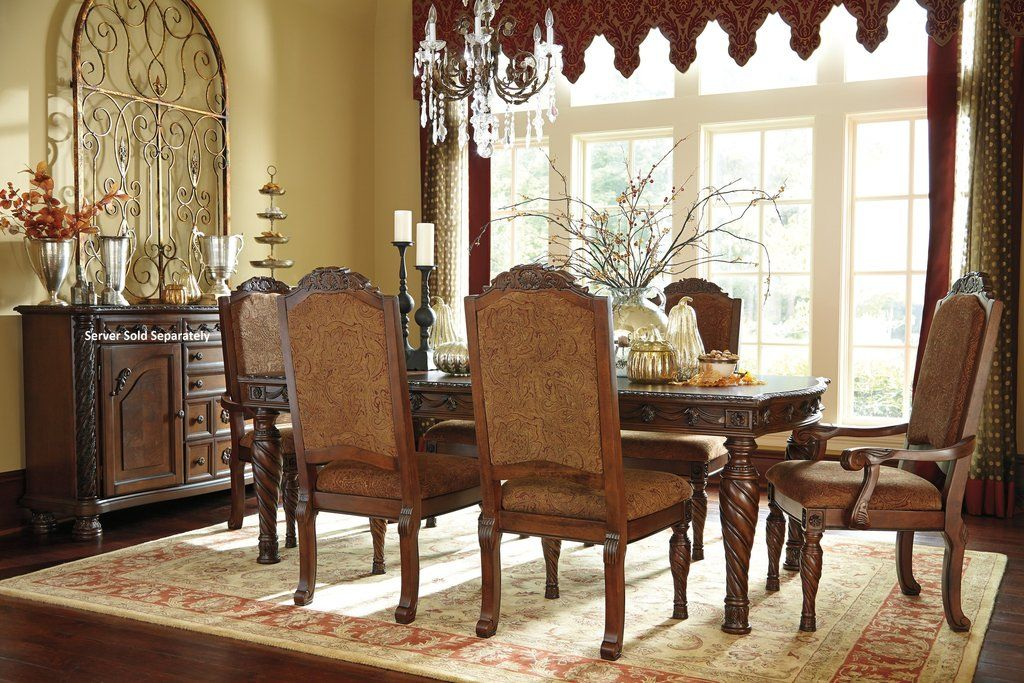 Arm Chair Dining Room Beauteous Northshore Brown Finish Dining Set Rectangle Table 4 Side Chairs Decorating Inspiration