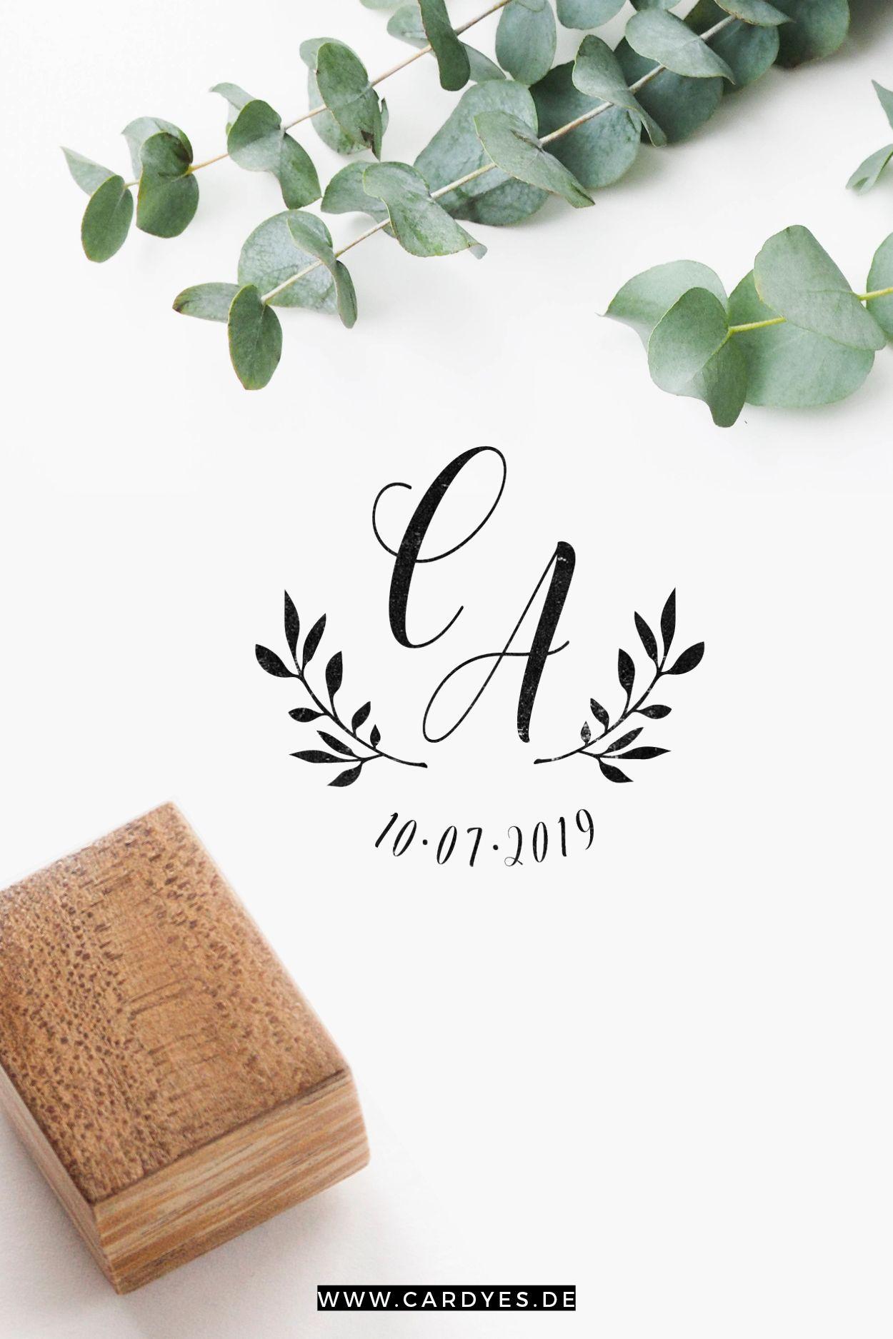 Hochzeitspapeterie mit individuellen Hochzeitsstempel • Wedding stamps for you…