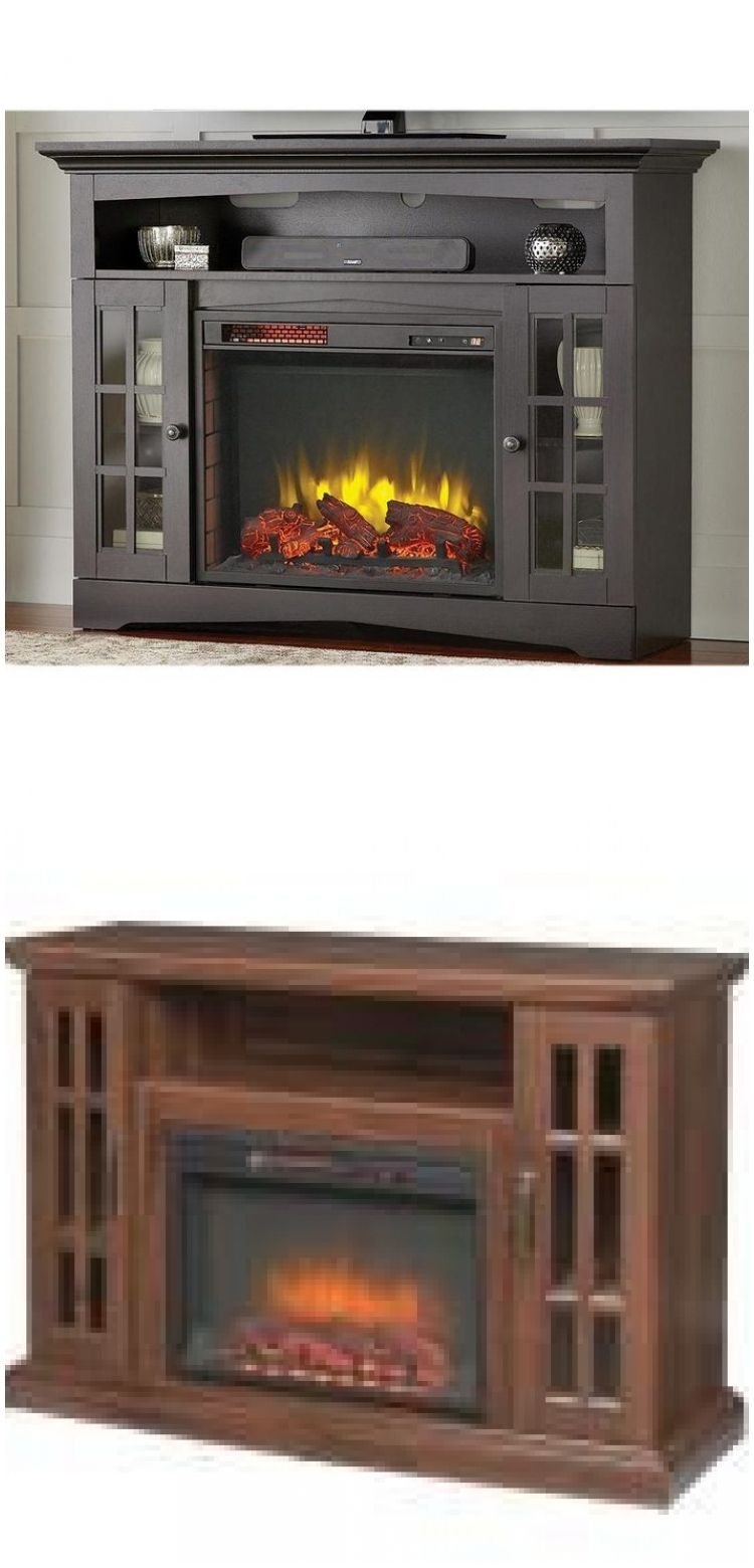Home Decorators Collection Edenfield 48 In Freestanding Infrared Electric Fireplace Tv Stand Electric Fireplace Tv Stand Fireplace Tv Fireplace